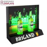 Acrylique personnalisé petit distributeur de la bière de table Jolie boîte à lumière LED d'affichage de la bière