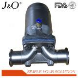 De sanitaire Pneumatische Vastgeklemde Klep Van uitstekende kwaliteit van het Diafragma