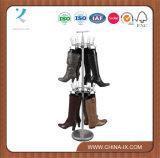 Design personalizado Metal Wire Rotating Shoe Racks Shoes Display Rack