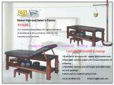 Massief houten Massagetafel, Thais Massage Bed (08D01)