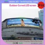 광고를 위해 게시판을 광고하는 P10에 의하여 구부려지는 디지털 LED