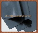 Folha de borracha impermeável, folha de chão de cobertura de borracha preta