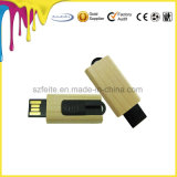 O formato da chave de madeira Unidade USB Flash Memory Stick Mini Disco Flash USB