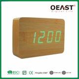 녹색 전시 Ot7007를 가진 가구 장방형 나무로 되는 LED 시계