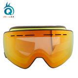 Occhiali di protezione magnetici della neve nebbia su ordinazione di marchio dell'anti con la cinghia intercambiabile