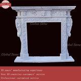 Belle cheminée sculptés à la main Mantel (GSMF-174)