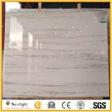 贅沢で半透明で自然な建築材料の石の帝国白い大理石のタイル
