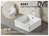 Square colgado en la pared o la parte superior de la cuenca del lavabo porcelana sanitaria
