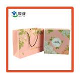 Caja de regalo personalizados de papel con cinta de opciones de producto cosmético
