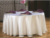 Hotel Jacquard personalizados de damasco blanco Mantel redondo de boda