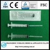 3-пластмассовых деталей стерильный одноразовый шприц с маркировкой CE&ISO утвержденных