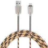 Cavo del USB della molla in lega di zinco di C3700 2.1A 1.5m micro (ORO)