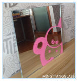 ホーム装飾のための4mmのシルクスクリーンの印刷のガラスミラー