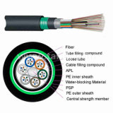 Núcleos de 2-144 GYTA53 Revestimento duplo cabo de fibra óptica exterior (antena/Ar/directo sepultado)