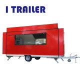 Itrailerのスクーターを販売する移動式ガラス繊維の食糧カートのバン