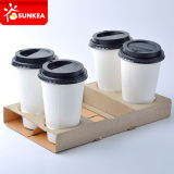 Carton imprimés personnalisés 4 morceaux boire la tasse de café des transporteurs