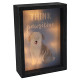 Cartoon chien boîte lumineuse à LED de conception pour la décoration d'accueil