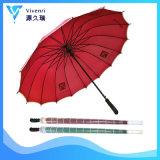 Stormproof Rechte Paraplu van het Golf voor de Bevordering van de Zon van de Regen