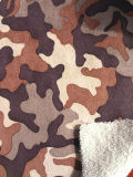 Fur Coat (ESFH-573)のための伸張Fur Fabric Laminated Printing Suede Fabric