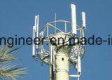 Hot DIP Galvanization Steel Communicaton Signal Tower Pole