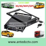 Mini móbil DVR de 4 canaletas com armazenamento de cartão do SD & GPS
