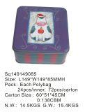 Caja de la lata del color rojo