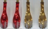 Mestiere di vetro dell'indicatore luminoso della decorazione di natale con l'indicatore luminoso di rame della stringa LED per arte della parete (17010)