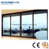 Grand patio coulissante de porte en aluminium de conception /grand verre pour la vente extérieure de porte