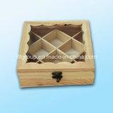 Casella di memoria di legno personalizzata colore di legno naturale del regalo