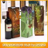 Natale di carta su ordinazione di lusso del sacchetto della bottiglia di vino
