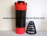 Bottiglia su ordinazione dell'agitatore della proteina della fabbrica di plastica più poco costosa 700ml