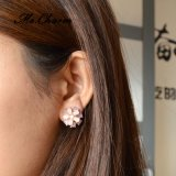 Boucles d'oreille classiques avec impériale de goujon de lt Rose Cateyes Flower Or-Couleur