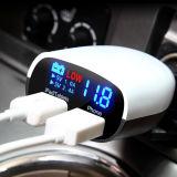발광 다이오드 표시 이중 USB 차 충전기 5V/4.8A