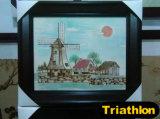 図か景色または花または静物画または動物3の鉄の絵画