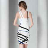 Robe courte sexy de courroies d'étroit de bandage de mode occasionnelle de femmes