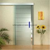 el vidrio helado de 8m m para la puerta artesona la puerta de cristal grabada al agua fuerte interior