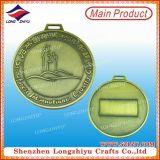 Más caliente China Material de latón barata Medallas católicas antiguas con cintas