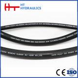 Cable flexible de acero reforzado de goma de alta presión de la manguera hidráulica