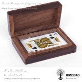 De Naar maat gemaakte Uitstekende Houten Speelkaart Box_D van Hongdao