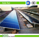 Pv-Zelle des flachen Dachs gefaltet, Sonnenkollektor einhängend
