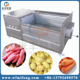 식물성 루트 또는 과일 씻기 및 껍질을 벗김 기계