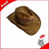 Paja de rafia impresos de promoción de sombrero de cowboy hat
