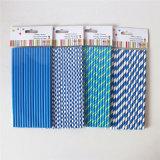 Diseños de Supplywith del color del partido azul del papel rayado diversos