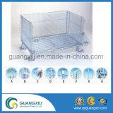 쌓을수 있는 접힌 직류 전기를 통한 강철에 의하여 용접되는 철망사 상자