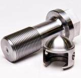 Moletage de 6061 pièces de usinage usinées en laiton en métal de pièce de rechange de précision de commande numérique par ordinateur d'aluminium