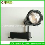 Boîtier noir blanc 15W COB a conduit la voie de Lumière pour plafond Downlight Spotlight