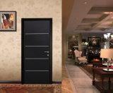 Inserta las tiras de aluminio decorativo interior Residencial Puerta de seguridad metálica de acero