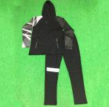 子供の青年学生服のサッカーのトレーニングのトラックスーツセット