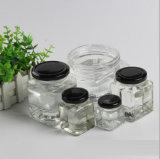 Bol en verre de miel carrés ou flacons avec fermeture métallique Caver