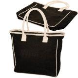 قطن نوع خيش حقيبة يد مع صنع وفقا لطلب الزّبون علامة تجاريّة